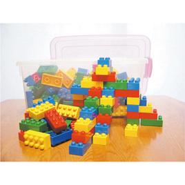 キッズブロックコンテナBOX基本セット【知育玩具/3歳/4歳/5歳/6歳/室内遊具/ブロック】
