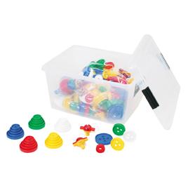 ひもとおしビッグボタンタワー【知育玩具/3歳/4歳/5歳/6歳/室内遊具/ブロック】