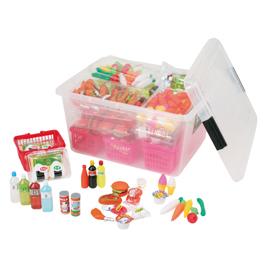 食育おかいものごっこコンテナBOX【知育玩具/3歳/4歳/5歳/6歳/室内遊具/ごっこあそび】