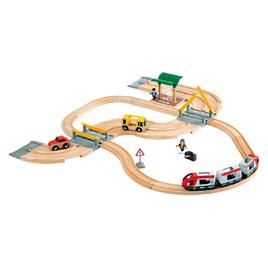 レール&ロードトラベルセット【知育玩具/3歳/4歳/5歳/6歳/室内遊具/おもちゃ】