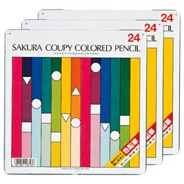 クーピー色鉛筆 24色 3個入【描画用品/色えんぴつ】
