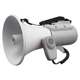 ショルダー型メガホン15W【視聴覚用品・楽器/拡声器】