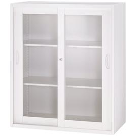 オフィスユニットH1050ガラス引戸型【整理保管・事務用家具/書庫】