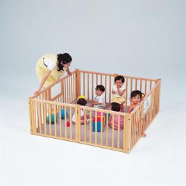 木製スーパーサークル【乳幼児用品/ベビーサークル・ゲート】