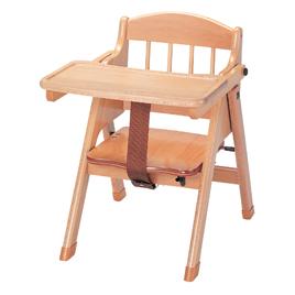 木製ベビーチェアピンク【乳幼児用品/乳幼児いす】
