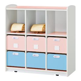 Wドロワーラック・3【備品/幼児用家具】