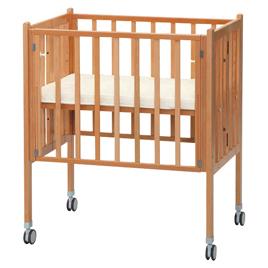 業務用折りたたみコンパクトベッドマット付【乳幼児用品/ベビーベッド・寝具】