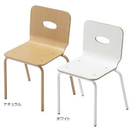 園児用イスEC ホワイト【備品/いす】