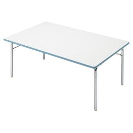 園児用テーブルEGM 2人用エッジブルー【備品/テーブル】