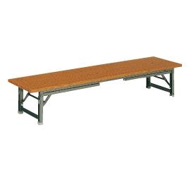 座卓兼用ゼミテーブルLTK1860チーク【整理保管・事務用家具/会議用テーブル】