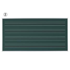 ローマ字黒板 W1810×H910mm【黒板・ホワイトボード用品/黒板】