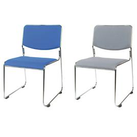 スタッキングチェア(12脚組)ブルー【整理保管・事務用家具/スタッキングチェア】