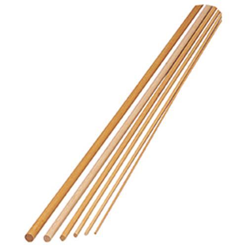 丸棒ラミン 6×900mm 50本入【造形・制作素材/木材・自然素材】