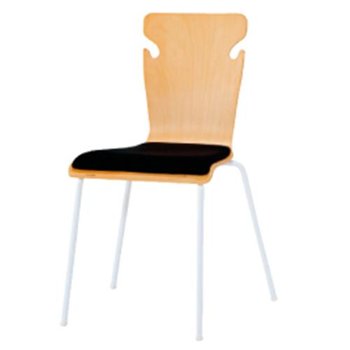 ミーティングチェアブラック(4脚組)【整理保管・事務用家具/スタッキングチェア】