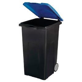 リサイクルカート90 ブルー【清掃用品/くず入れ】