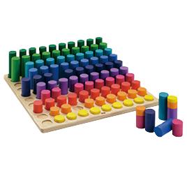 色と形合わせビーズセット大きさのペグさし【学習用品/体験学習】