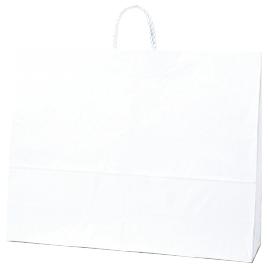 手提紙袋60-2白無地(50枚入)【新学期用品/作品袋】
