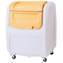 ダストボックスDX500 オレンジ【清掃用品/くず入れ】