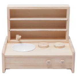 ミニキッチン棚BOXセット【室内遊具/ままごと用品】