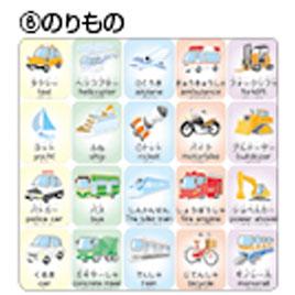 キッズナレッジカード(のりもの)【学習用品/英語】