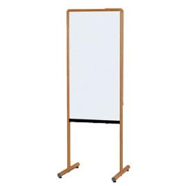木目調枠案内板 両面ホワイトボード【黒板・ホワイトボード用品/ホワイトボード】