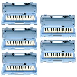 ピアニカ 32鍵 ブルー (5台)【視聴覚用品・楽器/楽器】