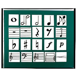 楽譜記号カード【視聴覚用品・楽器/楽器】