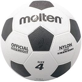 サッカーボールゴム4号球白×黒(5球)【運動用品/サッカーボール】