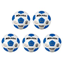 サッカーボール検定球4号 青(5個)【運動用品/サッカーボール】