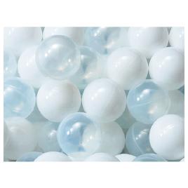 PEボール70(500個)C 白・クリア【室内遊具/ボールプール】