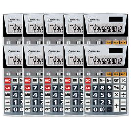 12桁ビジネス電卓L(10個)【電子文具/電卓】