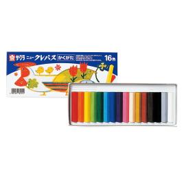 ニュークレパスかくがた16色10セット【描画用品/クレパス】