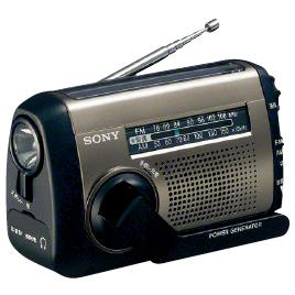 手回しソーラー充電ラジオ ICF-B99【防犯・防災・安全用品/非常ライト・ラジオ】