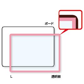 マルチラーニングボード L【黒板・ホワイトボード用品/ホワイトボード】