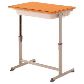 学生机(可動式) W650×D450 L【整理保管・事務用家具/学校用デスク・イス】