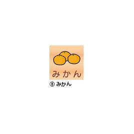 室名札(正面)200mm みかん【設備管理・収納用品/整理家具】