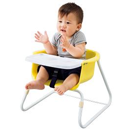 ブーチャー テーブル付(3脚) イエロー【乳幼児用品/乳幼児いす】
