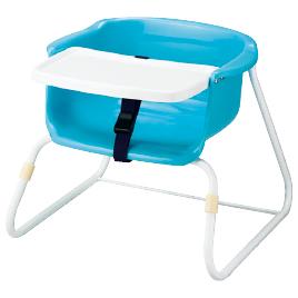 ブーチャー テーブル付(3脚) ブルー【乳幼児用品/乳幼児いす】