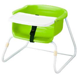 ブーチャー テーブル付(3脚) グリーン【乳幼児用品/乳幼児いす】