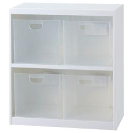 ボックスインフロアケースW585大4個【設備管理・収納用品/整理家具】