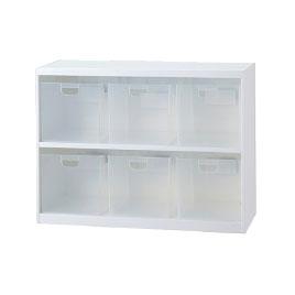 ボックスインフロアケースW855大6個【設備管理・収納用品/整理家具】