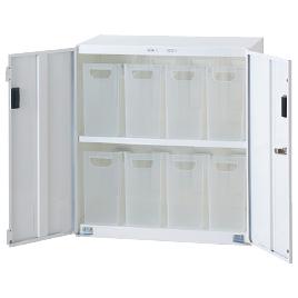 SボックスインフロアケースW585小8個【設備管理・収納用品/整理家具】