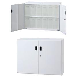 SボックスインフロアケースW855小12【設備管理・収納用品/整理家具】
