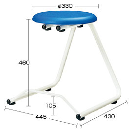 ハンギングチェア高さ46cmブルー【整理保管・事務用家具/スタッキングチェア】