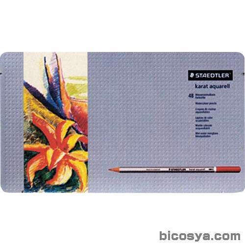 ステッドラー カラトアクェレル125水彩鉛筆 48色セット 送料無料[メール便不可](絵具 色鉛筆・画用木炭)