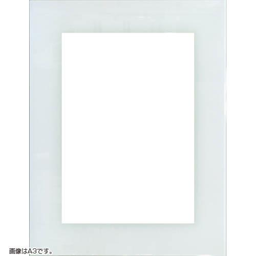 OA額縁 ガラストップフレーム OA-A3(420x297mm) ホワイト ガラス仕様【送料無料】【A-3/ポスターフレーム/ウェルカムボード/白色/額装】