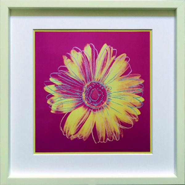 アートフレーム アンディ・ウォーホル Andy Warhol Daisy, c.1982(fuchsia & yellow) iaw-60605 絵画 壁掛け おしゃれ 送料無料