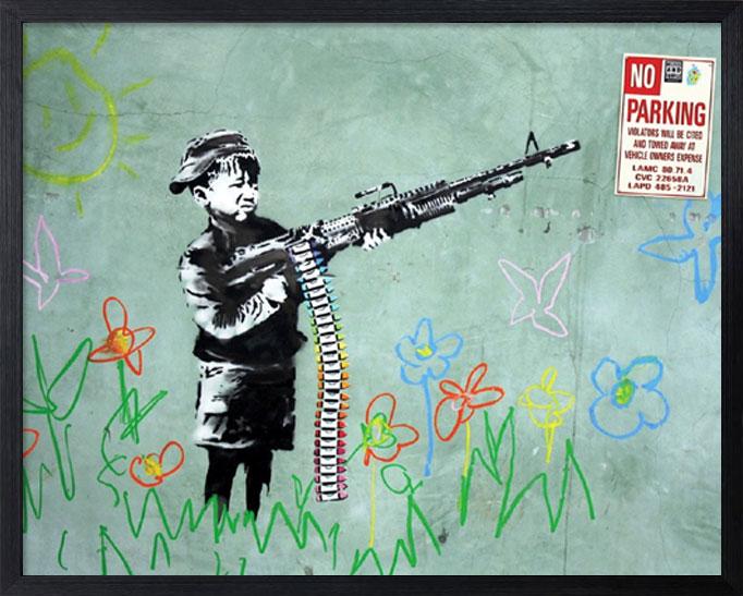 アートフレーム バンクシー Banksy No Parking iba-61738 絵画 壁掛け おしゃれ アートパネル 送料無料