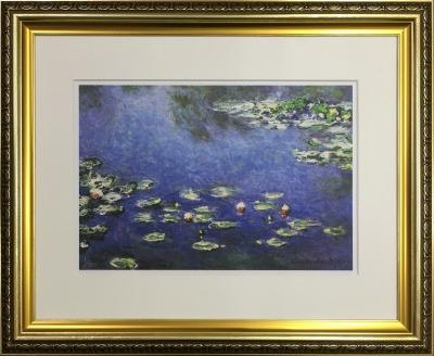 アートフレーム 名画 クロード・モネ Claude Monet 睡蓮 ifa-60898 絵画 壁掛け おしゃれ 油絵 送料無料