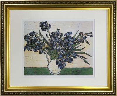 アートフレーム 名画 フィンセント・ファン・ゴッホ Vincent van Gogh アイリス ifa-60900 絵画 壁掛け おしゃれ 油絵 送料無料